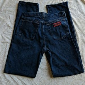 Mens Wrangler 20X blue jeans relaxed fit 33x38